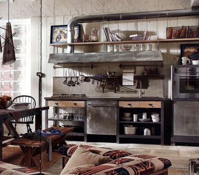 industrial style rustic industrial and industrial on pinterest. Black Bedroom Furniture Sets. Home Design Ideas