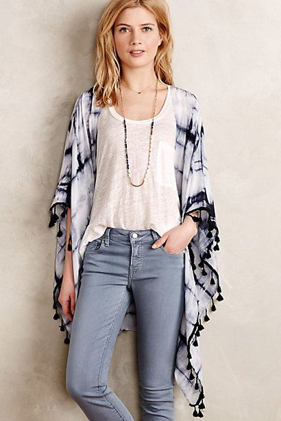 Tasseled Silk Kimono: