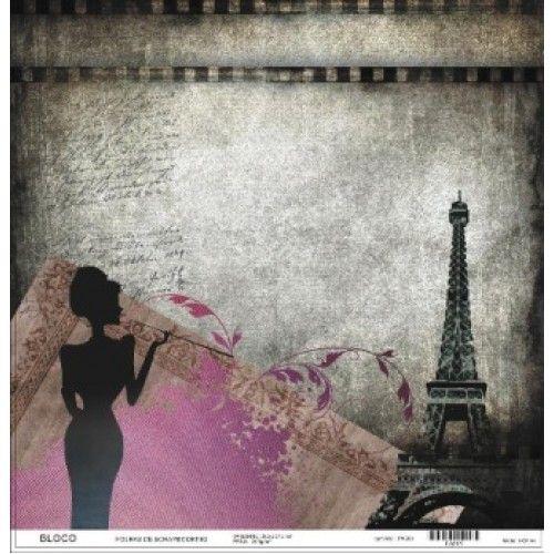 Folha scrapbook Paris
