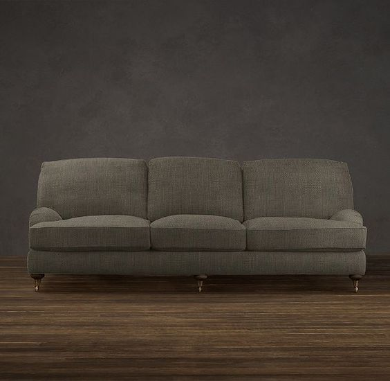 84 english roll arm upholstered sofa sofas for Who manufactures restoration hardware furniture