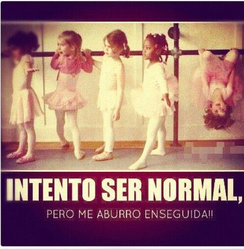 Intento ser normal