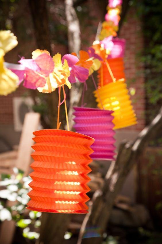 flores, cores e luze de papel!