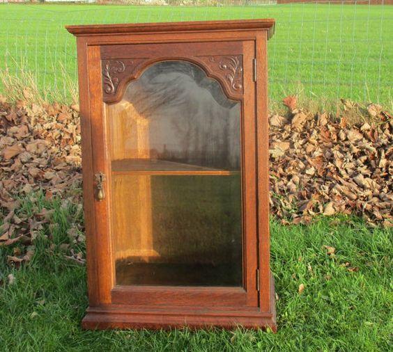 Large Carved Wood Medicine Bathroom Beveled Glass