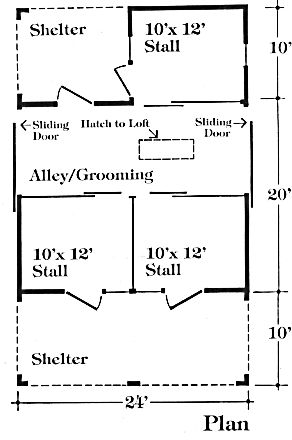 Chestnut valley horse barn plans instead of the shelter for 3 stall horse barn plans