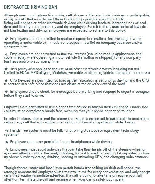 Cell Phone Policy Template For Companies Corporate Restaurants