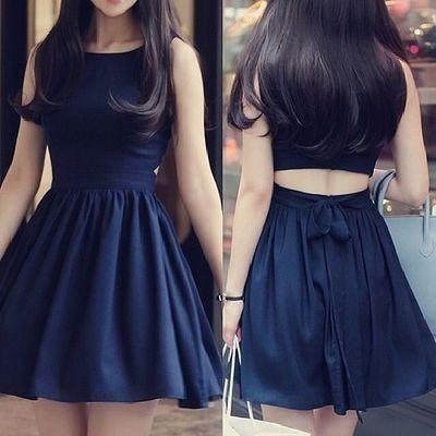 Navy Blue Homecoming Dress,Homecomi