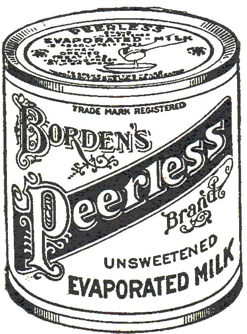 Free Printable Antique Advertisement Borden's Milk from KNICK OF TIME @ knickoftime.net