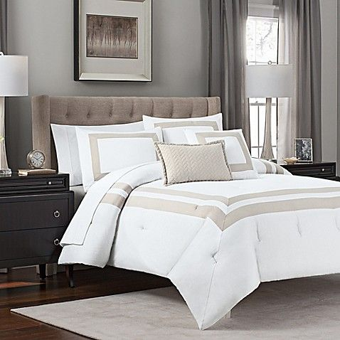 Add A Touch Of Luxury To Your Bedroom With This Hotel Bedding Set Featuring A Pastel Hue With A Double B Comforter Sets Hotel Bedding Sets Luxury Bedding Sets