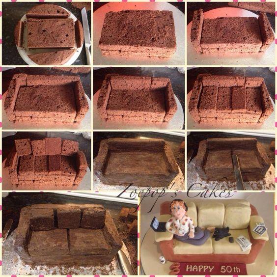 Couch Cake Tutorial Cake Tutorials Pinterest Cakes