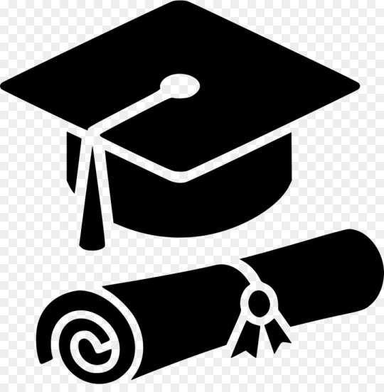 10 Floating Graduation White Cap Png Graduation Logo White Caps Png