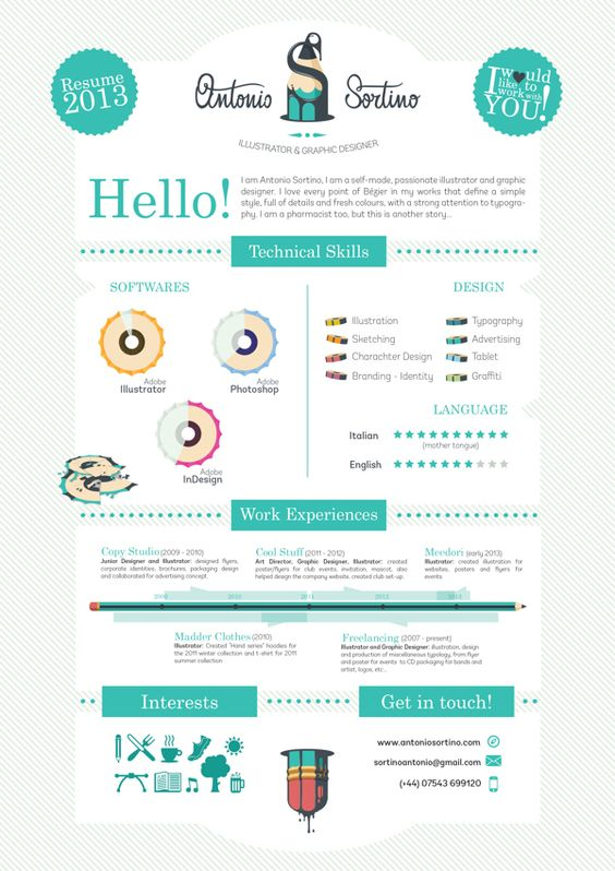 Cool Resumes 1000 images about graphic design on pinterest cool resumes curriculum and infographic resume 1ec64a3de80afb1204f496cc3bef3025 20 Cool Resume Cv Designs