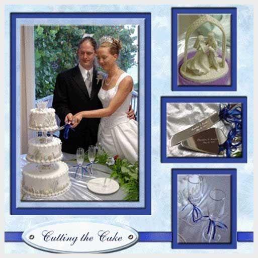 Simple Elegant Wedding Photo Album Page Layouts