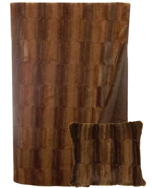 Beaver Brown Pillow and Throw Set - Buy at Snugglebug Pillows and Throws www.snugglebugpillowsandthrows.com