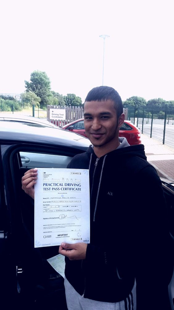 Masum Qahar Has passed his driving test successfully at Garretts Green test Centre.  Good job.