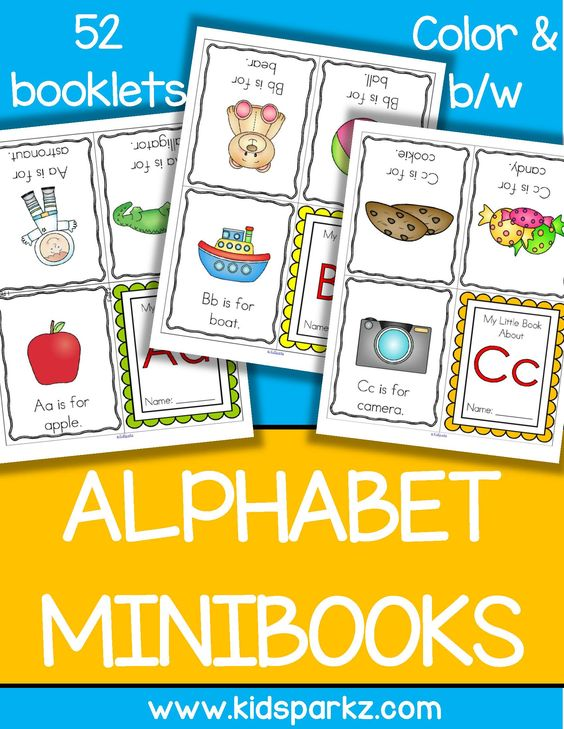 52 foldable alphabet booklets for preschool, pre-K and ...