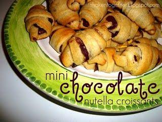 mini chocolate nutella croissants