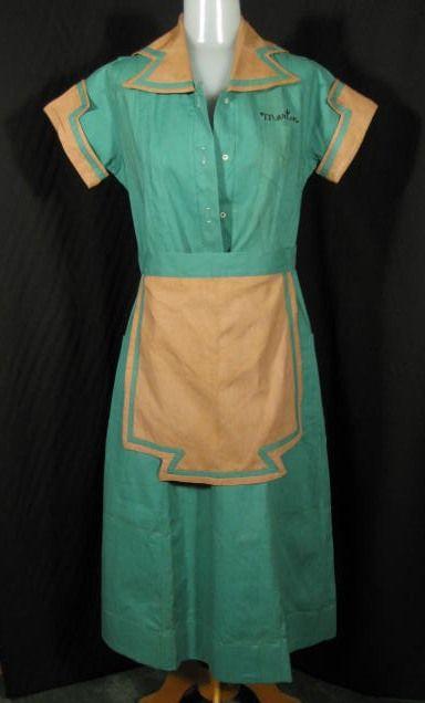 1930s Diner Waitress Uniform Dress at Robin Clayton Vintage ...