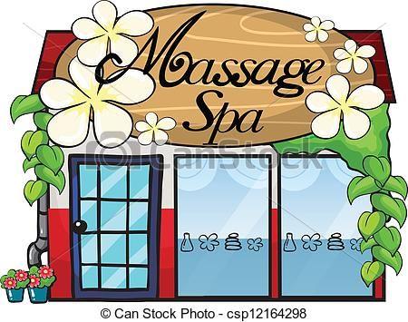 Massage Spa Clip Art | EPS Vectors of A massage spa ...
