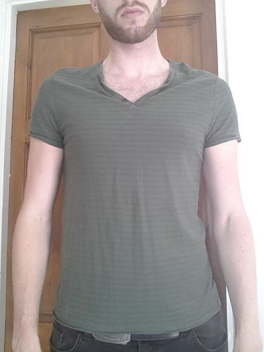 Men's Medium sized Green striped t-shirt - River Island | eBay