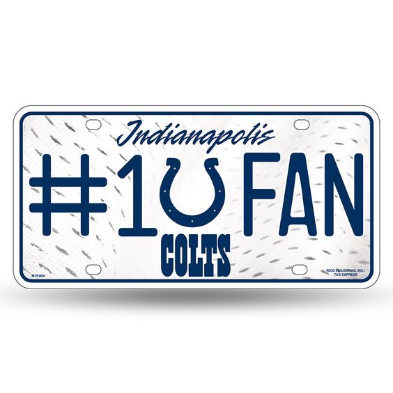 Indianapolis Colts NFL Metal Tag License Plate #1 Fan