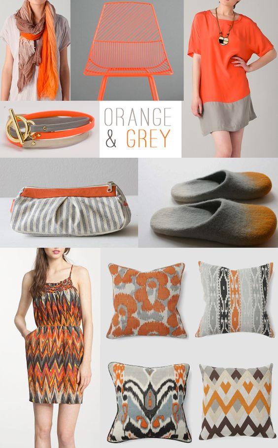 Grey+ Orange