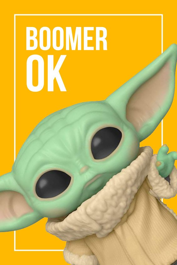 Ok Boomer Baby Yoda The Child Star Wars Action Figures Star Wars Star Wars Characters