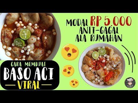 Modal Rp 5 Ribu Bikin Baso Aci Kekinian Anti Gagal Ala Rumahan Resep Baso Aci Mudah Youtube Food Recipes Food Chopper