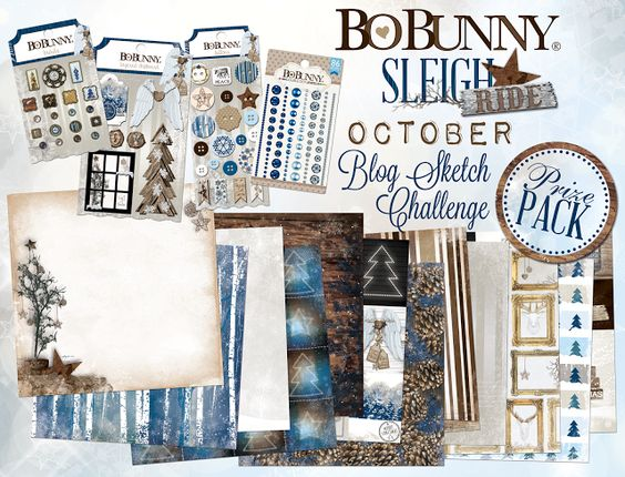 "Bo Bunny Sleigh Ride"" collection"
