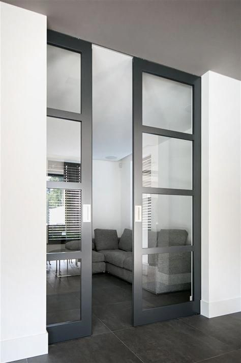 Frosted French Interior Doors External Doors 2 Glass Panel