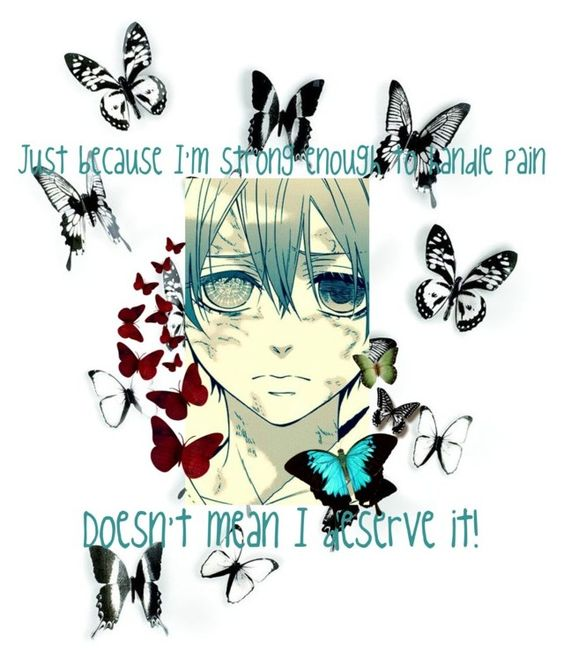 """""""//Black Butler Butterfly//"""" by blissfull-darkness ❤ liked on Polyvore featuring art"""