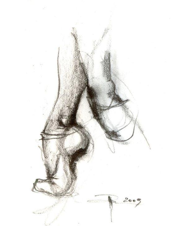 ballet slippers print