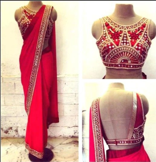 Beautiful saree and lve the design of the blouse