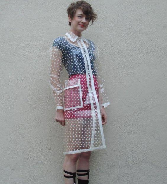 Raincoat, Clear Raincoat And Polka Dots On Pinterest