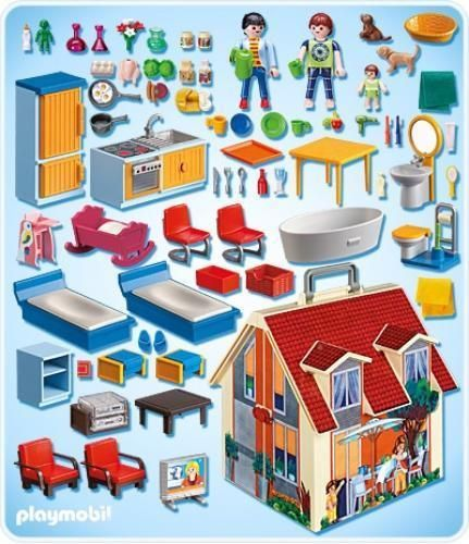 playmobil 5167 maison transportable playmobil pinterest. Black Bedroom Furniture Sets. Home Design Ideas
