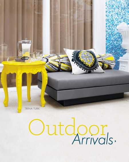 LOVE this bright yellow table by Trina Turk @ Neiman Marcus !!!
