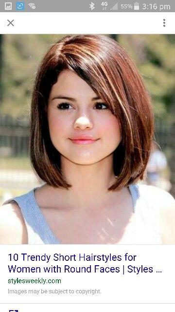 Medium hair round face