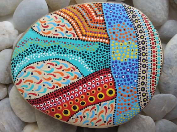 Beach Stones/Dots/Painted Stones/Painted Rocks/Decorative/Terrarium/Paperweight/Beach Decor/Lake Erie