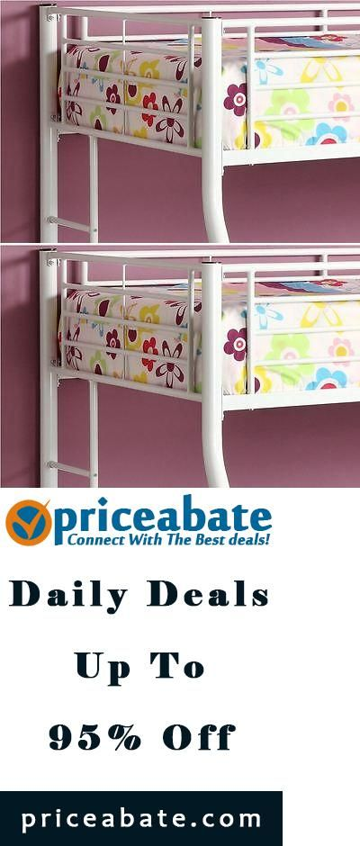#priceabatedeals Kid Bunk Bed Twin Over Full Bunk Beds Bedroom Furniture – White - Buy This Item Now For Only: $399.98