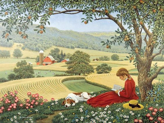 John Sloane ~ summer respite ~ country ~ farm ~ girl & dog