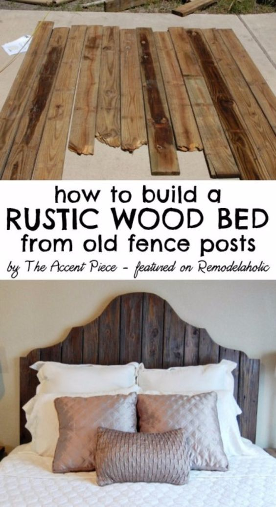 Diy headboards reclaimed wood headboard and headboard for How to make a wood pallet headboard