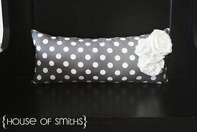 DIY: Bolster Pillow with Fabric Flowers
