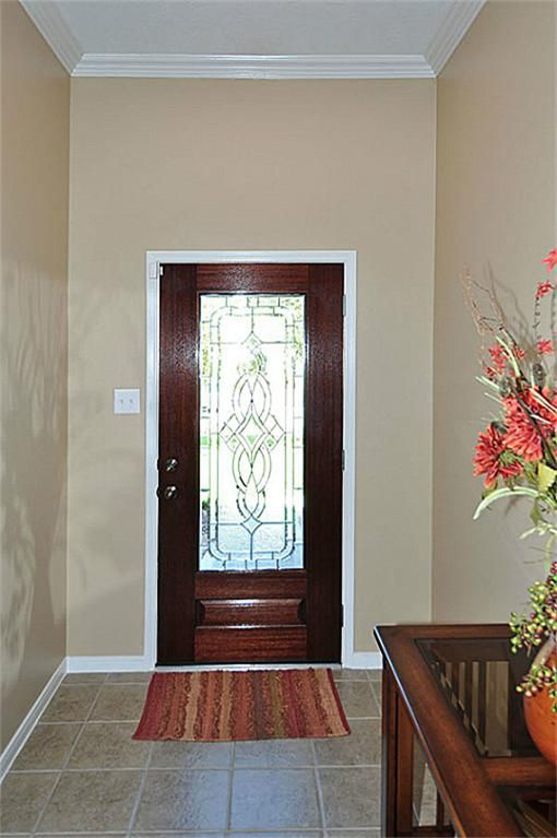 Glass front door lead glass and front doors on pinterest for Masonite belleville door price