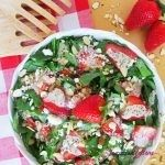 Strawberry Spinach Salad with Honey Poppy Seed Dressing (Low Carb, Gluten-free)