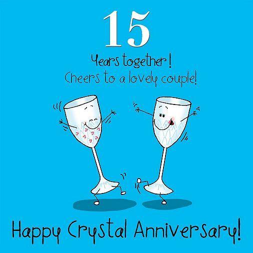 Tesco Direct 15th Wedding Anniversary Greetings Card Crystal Anniversary Happy 15th Anniversary 15th Anniversary Gift Happy Anniversary