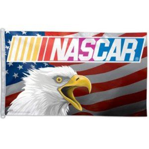 Wincraft NASCAR American Eagle 3' x 5' One-Sided Flag - Nascar One Size by WinCraft. $27.94. Top Quality, Manufactured by Wincraft. Officially licensed by the NASCAR. Whether you hang this officially licensed NASCAR(r) American Eagle flag from WinCraft(tm) inside your home or outdoors, everyone will know that you are a die-hard fan. This 3' x 5' flag is made of durable 3-thread polyester and has attached D-rings, so it is easy to hang. The flag is designed with long-lasting,...
