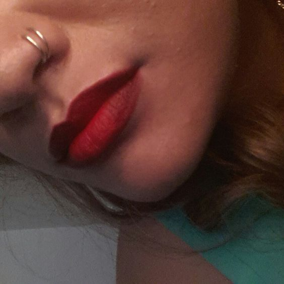 My double nose hoops and Ruby Woo by MAC