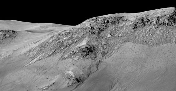 Water on the red planet: Nasa reveals major discovery – in pictures