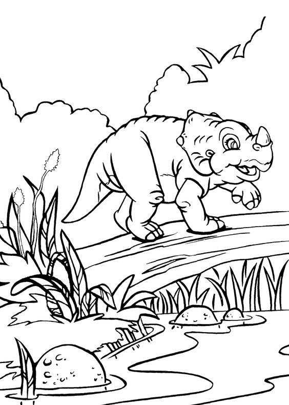 Cera Dinosaur From Land Before Time Coloring Pages For Kids Printable Free Land Before Time Dinosaur Coloring Pages Cartoon Coloring Pages Coloring Pages