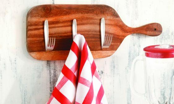 Ideias criativas: use talheres para decorar a cozinha:
