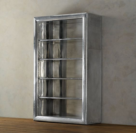 Aviator Bookcase | Mixed Material Shelving u0026 Cabinets | Restoration Hardware